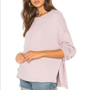 Free People Be Good Terry Pullover in Lavender